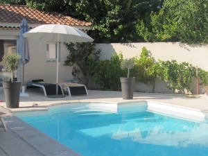 Our lovely private pool, where we played and relaxed under the Provencal Sun