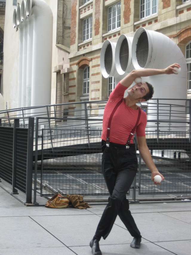 A Paris mime near Pompidou Center, Paris (from my 2009 home exchange near Paris)