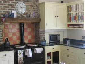 All  self respecting English manor homes have AGA hobs, or so we were told