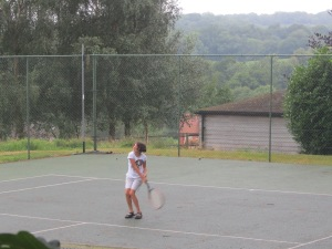 Our private tennis court on the property