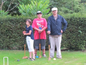 Croquet anyone?  Who would of thought, we'd have our own full size croquet court