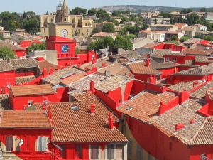 This is the most interesting art installation I've ever seen; in Salon de Provence, France